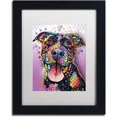 Trademark Fine Art Ms Understood Canvas Art by Dean Russo, White Matte, Black Frame, Size: 11 x 14