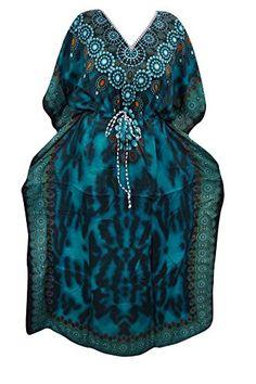 Womens Caftan Dashiki African Print Blue Kaftan Beach Cov... https://www.amazon.com/dp/B01N9LECIL/ref=cm_sw_r_pi_dp_x_spWzybJ0DQJRX
