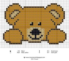 I must cross stitch this adorable bear. I must cross stitch this adorable bear. Cross Stitch For Kids, Cross Stitch Baby, Cross Stitch Animals, Cross Stitch Charts, Cross Stitch Designs, Cross Stitch Patterns, Beaded Cross Stitch, Cross Stitch Embroidery, Embroidery Patterns