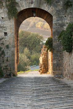 Good old yellow brick road - Tuscany, Italy