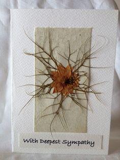 Hand Pressed Nigella Sympathy Card  £4.00