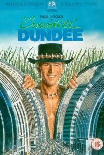 CROCODILE DUNDEE: Directed by Peter Faiman. With Paul Hogan, Linda Kozlowski, John Meillon, David Gulpilil. An American reporter goes to the Australian outback to meet an eccentric crocodile poacher and invites him to New York City. Film Movie, 80s Movies, Great Movies, Movies To Watch, Movies 2019, Crocodile Dundee, Crocodile Stitch, Movies Showing, Movies And Tv Shows