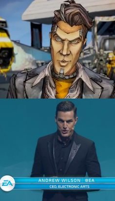 The CEO of EA looks exactly like Handsome Jack from Borderlands 2... and suddenly it makes sense!