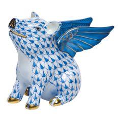 Cerdito con alas muy kitsch de Herend Fishnet #taiganholiday