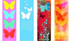 Free Printable Butterfly Bookmarks