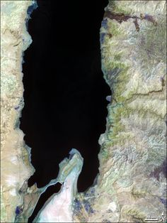 NASA image of the Dead Sea in House Beautiful's Paint Palette September 2011