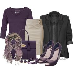 Charcoal & Plum, created by sassafrasgal on Polyvore