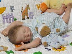 "Marita Winters' ""Teddi"" sweet reborn baby boy with total layette + free shipping"