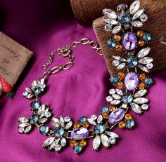 Fashion Jewlery Women Chunky Statement Necklace from Qingdao Shijie Jewelry. Handmade colors stone/ acrylic/ glass stone Length:48+8cm weight:150 For girl friends, wife, fashion clothing. dress whatsapp +8613792846305 www.qdshijie.en.alibaba.com #necklace #like #gift #trendy #fashion #women #beauty #colors #statement #dress #clothing #amazing #vintage #chunky #designer #blog #bloger #wholesaler #retailer #Ebay #amazon #Etsy #kissme #shijie #stones
