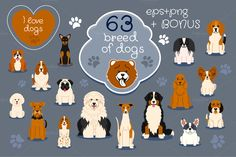 Collection of different dogs by Mallinka on Creative Market