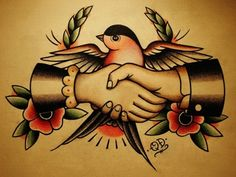 traditional shaking hand tattoo - Google Search