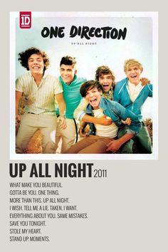 Alternative Minimalist Music Album Polaroid Poster - Up All Night One Direction Albums, One Direction Posters, One Direction Photos, One Direction Collage, Minimalist Music, Minimalist Poster, Room Posters, Poster Wall, Canciones One Direction