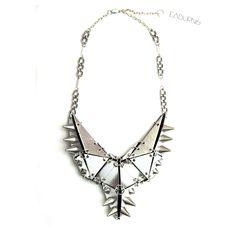 Stegasaurus Necklace, Silver by EABurns Bib Necklaces, Silver Necklaces, Casual Chic, Unique Jewelry, Jewelry Accessories, Statement Jewelry, American, Arrow Necklace, Fashion Jewelry