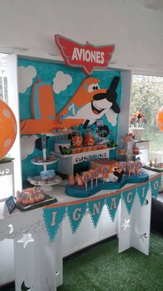 Aviones Disney Disney Planes Party, Disney Planes Birthday, Birthday Decorations, Birthday Party Themes, Cloud Party, Airplane Party, 3rd Birthday, Ideas Para, Chile