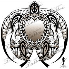 Marketplace Tattoo Honu (Turtle) Polynesian Style #9683 | CreateMyTattoo.com