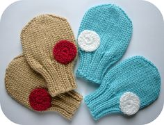 Etsy: PDF Knitting Pattern -  Pat-a-cake Baby Mittens In Sizes 0 - 3 months, 3 - 6 months, 6 -12 months. $4.50, via Etsy.