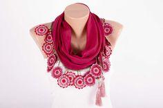 Turkish oya scarf  turkish yemeni  summer scarf with hand