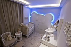 baby room with classic pieces and indirect lighting