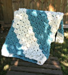 Free Pattern - Quick and Easy Baby Blanket from Designing Crochet by Amanda Saladin. Works up super quickly with Bernat Blanket yarn.