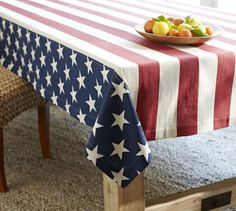 Dress your dining space: American Flag Tablecloth
