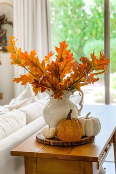 Create a stunning display of fall leaves without the fuss this season. Go faux, and bring in fall tones without worrying about the shed of real leaves. Trim the stems to fit your favorite vase and enjoy! Shop this look by @thejoyfuldecorator at Afloral.com.