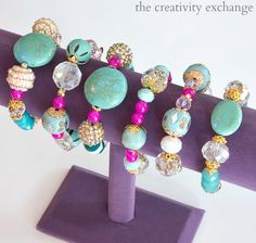 Easy DIY Knot Bracelets and Necklaces using leather cords.  The Creativity Exchange