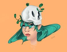 First digital face painting. Girl Skull, Working On Myself, New Work, Behance, Gallery, Face, Check, Painting, Fictional Characters