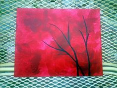 Shadow in red  Original acrylic painting on by LindaHansonDesigns