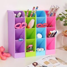 Colorful Craft Storage Boxes