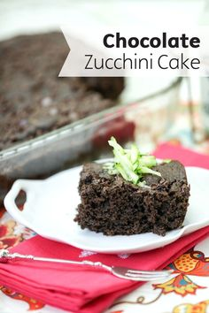 Try out this delightful Chocolate Zucchini Cake dessert recipe! Made with banana, coconut or almond milk, dark cocoa powder, and shredded zucchini—that has been squeezed dry in a Bounty Paper Towel—this simple dessert is both healthy and delicious.