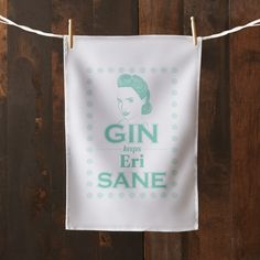 This humorous tea towel will make a great gift for any gin obsessive! Personalise the tea towel with your name of choice up to a maximum of 19 characters.