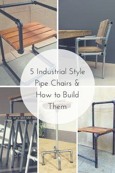 5 Industrial Style Pipe Chairs & How to Build Them  #KeeKlamp #pipechair