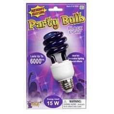 Description #67806 Get up to 6000 hours of illumination from these energy efficient 15 watt standard black light bulb.                                                                                                                                                                                 More