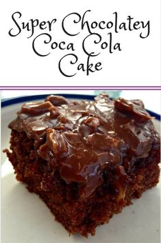 Super Chocolatey Coca Cola Cake Looking for the best chocolate cake ever? Coca Cola Cake is the reci Fun Desserts, Delicious Desserts, Dessert Recipes, Yummy Food, French Desserts, Cupcake Recipes, Best Chocolate Cake, Chocolate Recipes, Chocolate Coca Cola Cake