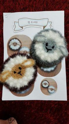 꿈꾸는손가락님의 양 수세미 완성했어요^^♡ 메밀군 미션인증하고 받은 도안으로 냉큼 만들어보았어요♡~♡... Free Crochet, Knit Crochet, Diy And Crafts, Crochet Earrings, Bubbles, Knitting, Creative, Shower Towel, Dishcloth