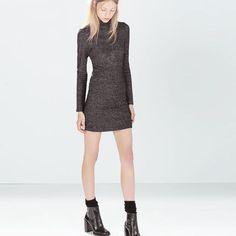 Little Black Glittery Dress