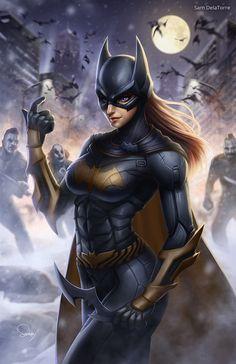 Batgirl, Sam DelaTorre on ArtStation at https://www.artstation.com/artwork/batgirl-6