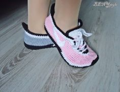 Converse Slippers, Women Slippers,Women Coverse, Women Slippers, Nike Sneakers Slippers, Crochet Women Shoes,Knit Slippers, Pink Converse by BENIstyle on Etsy