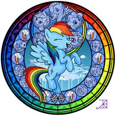 Stained Glass Of Rainbow Dash