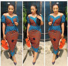 Uber Cute Ankara Gown Styles 2018 for Beautiful Fashionistas.Uber Cute Ankara Gown Styles 2018 for Beautiful Fashionistas African Print Dresses, African Dresses For Women, African Wear, African Attire, African Fashion Dresses, African Women, African Style, Ankara Fashion, Fashion Outfits
