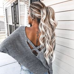 Amazingly Popular Hairstyles And Haircuts This Winter – Frisuren Neue Frisuren und Haarfarben Popular Hairstyles, Pretty Hairstyles, Hairstyles Haircuts, Date Night Hairstyles, Basic Hairstyles, Winter Hairstyles, Messy High Ponytails, Long Hair Ponytail, Messy Hair