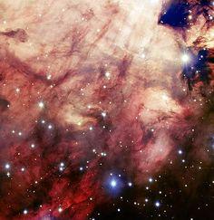 Omega Nebula by the Very Large Telescope. Atacama Desert, Chile.