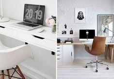 6 geniale Ikea-hacks til hjemmekontoret Furniture Upholstery, Ikea Furniture, Home Office Furniture, Inspiration Ikea, Home Office Design, My New Room, Ikea Hacks, Smart Home, Living Room