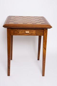 Maple & Walnut Chess Table