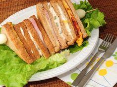 Receta de Sandwich club en El Toque de Samantha. http://www.canalcocina.es/receta/sandwich-club-1