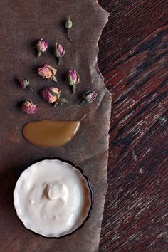 "A rosewater, honey & yogurt mask/Naturellit naamiohuvit aka ""Natural facial masks"" Lily.fi"