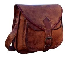 Handmade Leather Shoulder bag Rustic Satchel Purse by Creations675