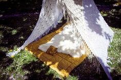 """VINTAGE KNIT TEEPEE """"Boho Baby"""" 2SQ via TIPIYEAH. Click on the image to see more teepee ´s!"""