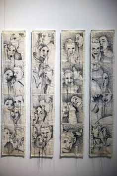Textiles photo-booth - showing friends together (Nike Schroeder - Shortstop) Textile Fiber Art, Textile Artists, Impression Textile, A Level Textiles, A Level Art, Sewing Art, Arte Popular, Ap Art, Art Sketchbook