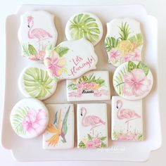 Let's Flamingle 💕 Strawberry Cookies for 😘💕✨ . Strawberry Cookies, Summer Cookies, Hand Painted, Sugar, Sweet, Desserts, Candy, Tailgate Desserts, Dessert